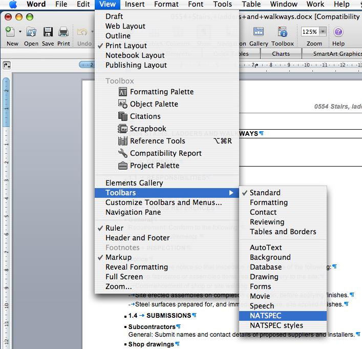 Macintosh toolbar